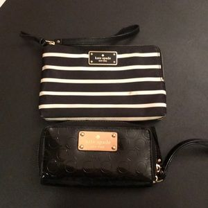 Kate spade 2 wallets wristlet preowned